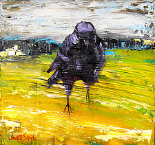 Raven Through the Meadow by Janice Sugg (Oil Painting)
