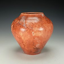 Saggar-Fired Raku Vessel by Lance Timco (Ceramic Vessel)