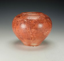 Saggar-Fired Raku Vessel II by Lance Timco (Ceramic Vessel)