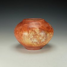 Saggar-Fired Raku Vessel III by Lance Timco (Ceramic Vessel)
