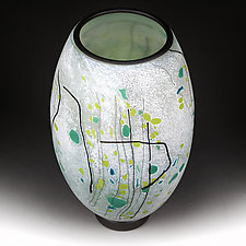 Wandering Wintergreen by Eric Bladholm (Art Glass Vase)