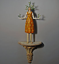 Thorn Woman by Elizabeth Frank (Mixed-Media Wall Sculpture)