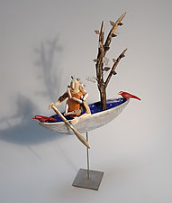 Journey of the Ice People #2 by Elizabeth Frank (Wood Sculpture)