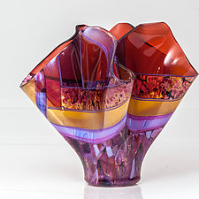 Sedona Sunset #3 by Varda Avnisan (Art Glass Sculpture)
