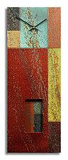 Mondrian Redux by Robert Rickard (Metal Wall Clock)