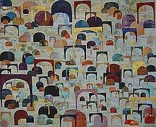 Catacombs  XVIII: Verdigris by Joanie San Chirico (Art Quilt)