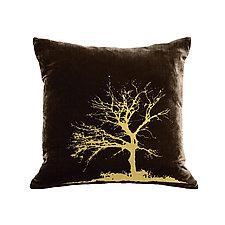 Gilded Luxe Tree Pillow by Helene  Ige (Velvet Pillow)