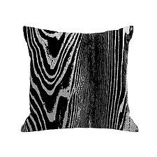 Gilded Luxe Metallic Woodgrain Pillow by Helene  Ige (Velvet Pillow)