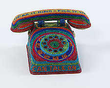 Toy Phone by Kathy Wegman (Beaded Sculpture)