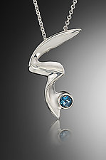 Gee Pendant by Kennedi Milan (Silver & Stone Necklace)