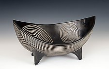 Spirals Viking Bowl by Larry Halvorsen (Ceramic Bowl)