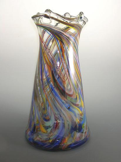 Rainbow Tower Vase By Mark Rosenbaum Art Glass Vase Artful Home