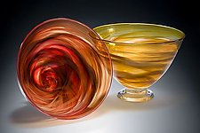 Large Deep Bowl by Mark Rosenbaum (Art Glass Bowl)