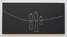 3 Bird Family by Sylvie Rosenthal (Wood Wall Sculpture)