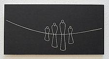 4 Bird Family by Sylvie Rosenthal (Wood Wall Sculpture)