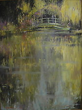 Tending the Pond at Giverny by Tom Bluemlein (Oil Painting)