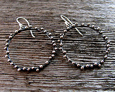 Twilight Hoops by Delias Thompson (Silver Earrings)