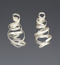 Tornado Earrings by Rina S. Young (Silver Earrings)