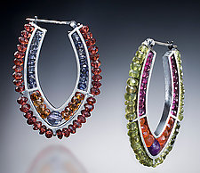 Hoop Earrings by Susan Kinzig (Beaded Earrings)