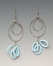 Lightness Earrings by Lonna Keller (Silver & Neoprene Earrings)