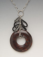 Jasper Necklace by Lonna Keller (Silver, Stone, & Neoprene Necklace)