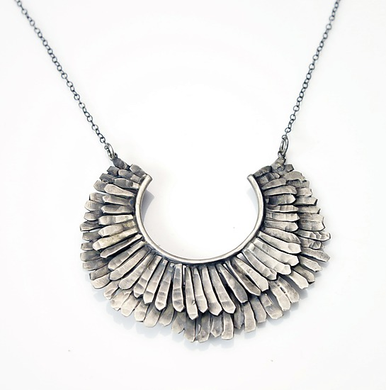 Double Feathered Necklace