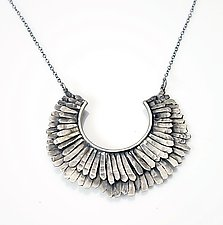Double Feathered Necklace by Ashley Vick (Silver Necklace)