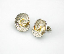Swirl Earrings by Keiko Mita (Gold & Silver Earrings)