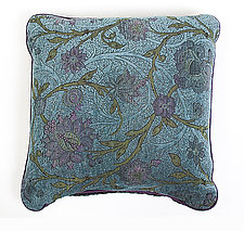Aqua Pillow by Mary Lynn O'Shea (Fiber Pillow)