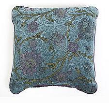 Aqua Pillow by Mary Lynn O'Shea (Fiber Pillow)