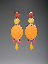 Big Oval M's Earrings by Louise Fischer Cozzi (Polymer Clay Earrings)