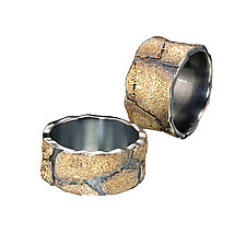 Cobblestone Bands by Jenny Reeves (Gold & Silver Ring)