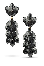 Tri-Leaf Earring 5 by Jamie Cassavoy (Gold & Silver Earrings)