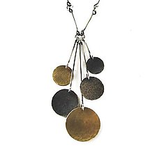 Hammered Disc Necklace by Lisa Crowder (Gold & Silver Necklace)