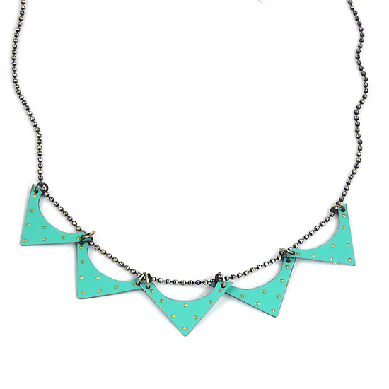 Recycled Tin Can Zig Zag Necklace