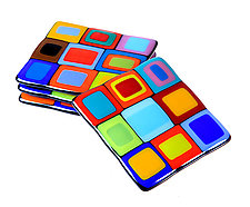 Carnival Coasters by Helen Rudy (Art Glass Coasters)