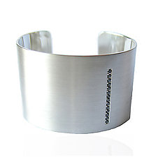 1.5  Cuff With Black Diamonds by Claudia Endler (Silver & Stone Bracelet)