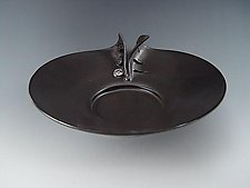 Buttons Platter in Charcoal by Lilach Lotan (Ceramic Platter)