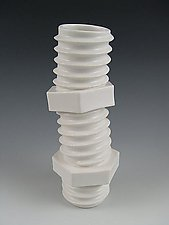 Screw Vase in Silky White by Lilach Lotan (Ceramic Vase)