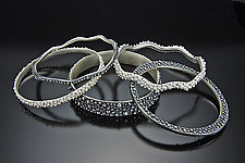 Bumpy Bangles by Dahlia Kanner (Silver Bracelet)