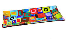 Carnival Platter by Helen Rudy (Art Glass Platter)