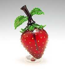 Strawberry Perfume by Garrett Keisling (Art Glass Perfume Bottle)
