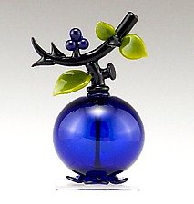 Blueberry Perfume by Garrett Keisling (Art Glass Perfume Bottle)
