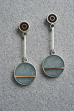 Two Dot Earring by Eileen Sutton (Mixed-Media Earrings)