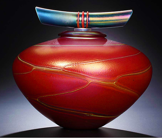 Red Ruby Bowl with Lid
