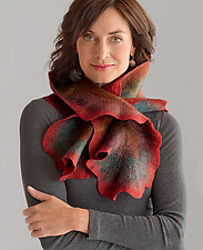 Coral Scarf by Jenne Giles  (Wool Scarf)
