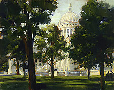 Wisconsin State Capitol by Georgene Pomplun (Giclee Print)