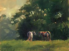 Early Morning Hilltop Conversation by Georgene Pomplun (Giclee Print)
