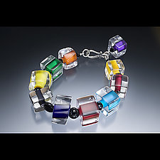 Chunkie Brights with Jet by Ricky Bernstein (Beaded Bracelet)