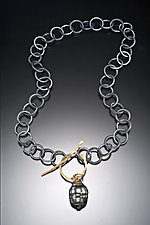 South Sea Pearl Necklace by Nina Mann (Gold, Silver & Pearl Necklace)